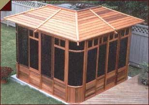 Sun ray hot tubs patio gazebo supplier serving edmonton sherwood park st albert alberta - Enclosed gazebo models ...