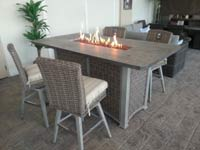 Pub height rectangle patio dining table