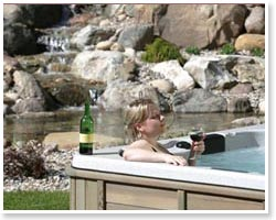 relaxing in sun ray Hot Tub